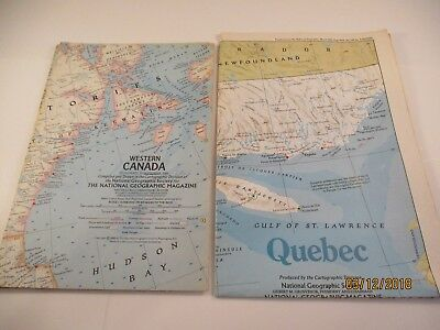 National Geographic Society 1966 West & East Canada & 1991 Quebec #6