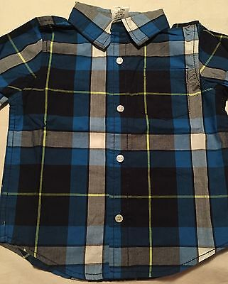 Gymboree Boys Star Brights Long Sleeve Button Up Shirt size 18-24 Months Nwt