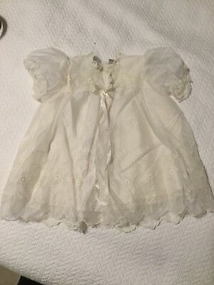 Antique Vintage Lace Christening gown dress Cover Phyllis Baby Wear 3 m