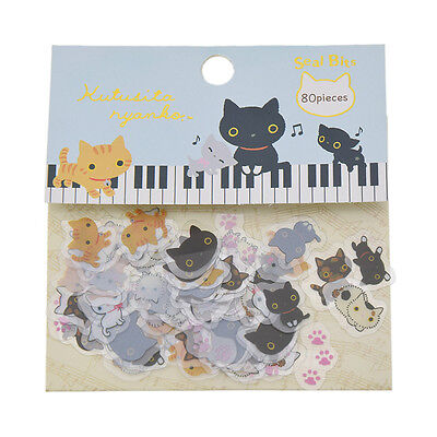 Kutusita Nyanko Cartoon Stickers Diary Decoration Scrapbooking Note Supplies