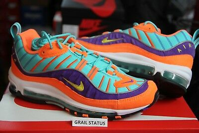 NIKE AIR MAX 98 Cone Tour Yellow Hyper Grape QS 924462 800