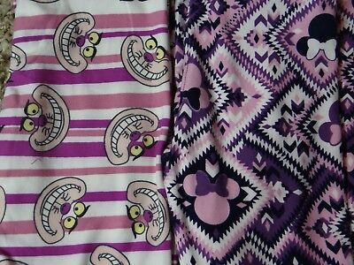 Lularoe, 2 Pairs Disney S/M Leggings, Cheshire Cat and Minnie , NWT