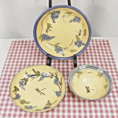 Windmill of Provence, Monaco Collection Lot of 3 BOWLS Hand Made & Painted. New!