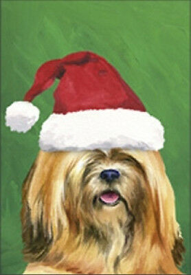 Large Indoor/Outdoor Christmas Flag BVV - Lhasa Apso 27040
