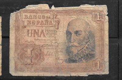 SPAIN SPANISH #144a AG CIRC 1953 PESETA OLD BANKNOTE PAPER MONEY BILL NOTE