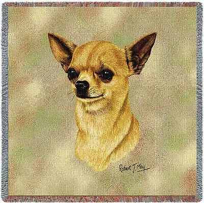 Lap Square Blanket - Chihuahua II by Robert May 2358
