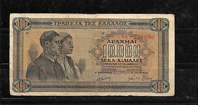 GREECE #120a 1942 10000 DRACHMAI VG CIRC WWII OLD BANKNOTE PAPER MONEY BILL NOTE