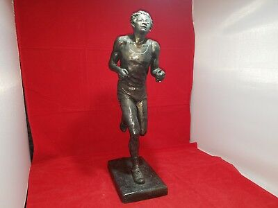 "Vintage ""The Runner"" Statue Austin Productions 1977 Large Sculpture 19"" Tall"