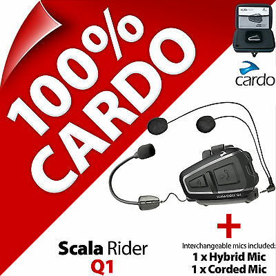Cardo Scala Rider Q1 (Single) Bluetooth Motorcycle Helmet Bike Intercom Headset