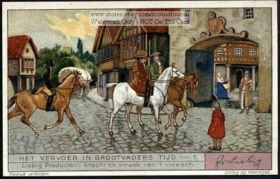 Horses Of Old  A Colorful 1930s Trade Ad Card