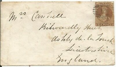 Neuseeland New Zealand Letter with 6 Pence 1862 SG 13  to England (please read)