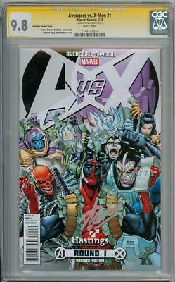 Avengers Vs X-Men 1 Deadpool Variant Cgc 9.8 Signature Series Signed Stan Lee