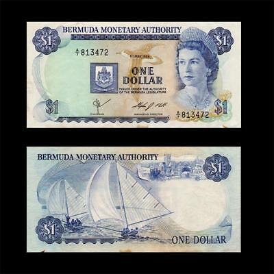 1984 British Colony Bermuda (Qeii) , $1 » Best Note «