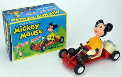 Marx Toy - Mickey Mouse Racing Kart - Friktionsantrieb - 50er Jahre
