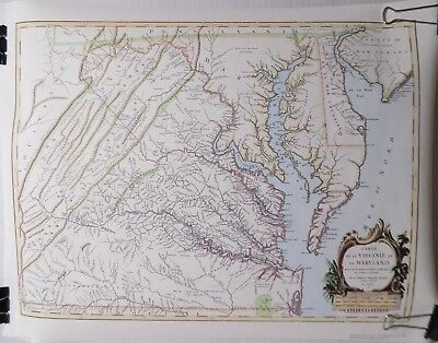 "Reproduction 1755 Map Of Virginia Maryland Delaware 17.5"" x 22.75"" Old State USA"