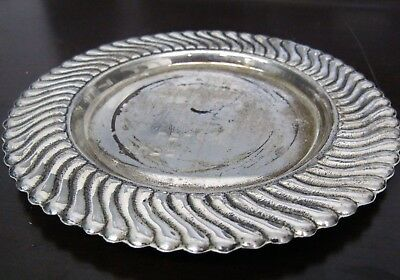 Vintage Sterling Silver 925 Small Under Plate Dish Judaica