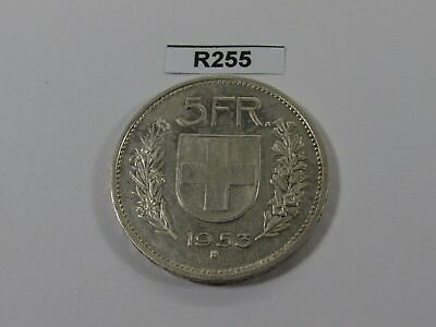 Switzerland 1953 5 Francs Silver Coin - R255