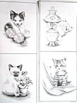 4 Tri Chem Kitten Cat Picture to paint PreShade Decor Group Liquid Embroidery