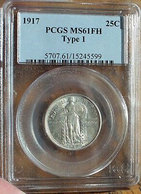 1917 Standing Liberty Quarter PCGS MS 61 FH Type 1 US Rare Coin .25 Cents