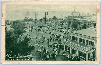 """1921 Toronto Postcard """"Children's Playgrounds, Canadian National Exhibition"""""""