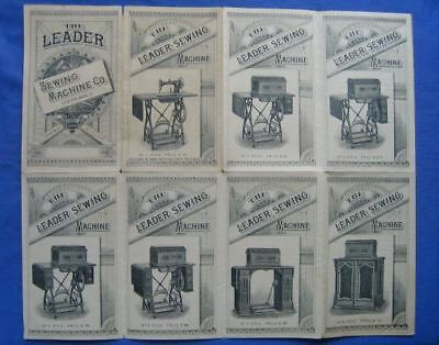 Vintage Leader Sewing Machine Pamphlet Showing Models Styles