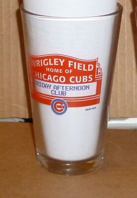2  16 oz. WRIGLEY FIELD CHICAGO CUBS  BUD LIGHT   BEER GLASSES  NEW OLD STOCK