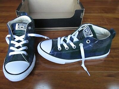 67438051f160 NEW CONVERSE WOOLRICH Chuck Taylor All Star Hi Top Shoes Boys 3 Almost  Black  50 -  19.99