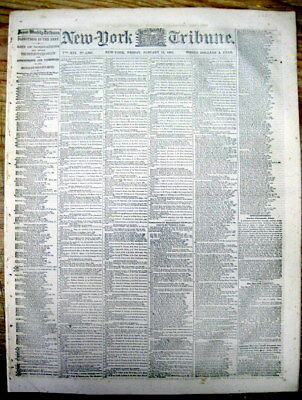 1864 Civil War newspaper ULYSSES S GRANT named by LINCOLN to HEAD the UNION ARMY