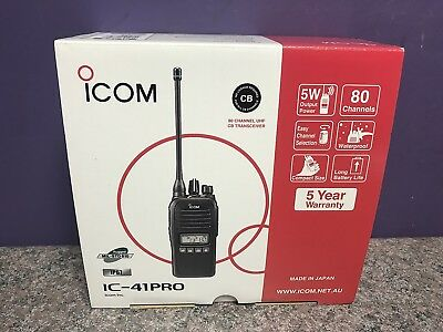 Icom Ic-41Pro Uhf Cb Two Way Portable Handheld Radio Near New