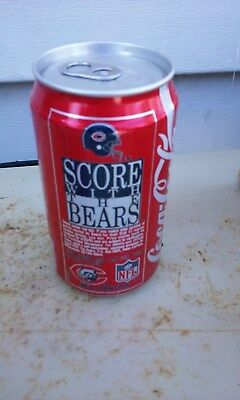 Coca Cola Coke Nfl Score With The Bears Air Sealed Aluminum  Soda Can Cans