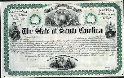 State Of South Carolina Bond, 1893, Abnc, Unissued, Crisp (Folded Once In Middle