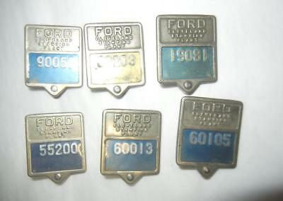 (6) Ford Motor Co. Cleveland Ohio Stamping Plant Employee Badges