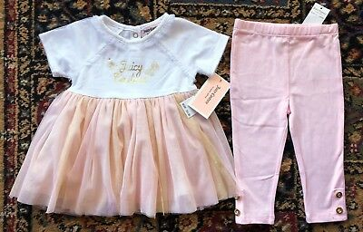 NWT New JUICY COUTURE Tunic Shirt & Legging Set Baby Girl Size 6-9 Months $65