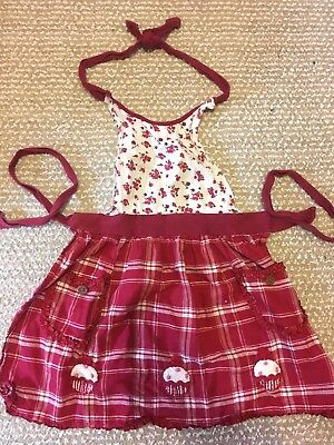 EUC Small Girls Cooking Apron Cupcakes