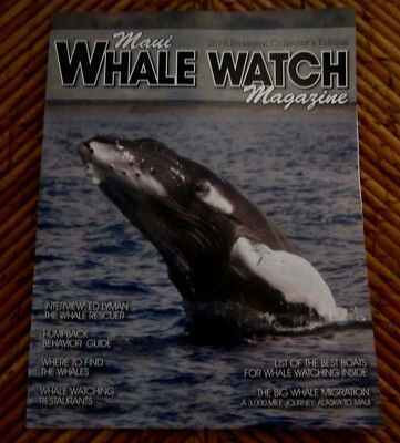 2018 MAUI WHALE WATCH MAGAZINE Just Released AMAZING Cover Photo+GREAT Pics 67Pg