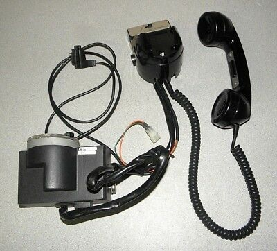 Motorola HLN1220B Spectra Telephone Handset Mic with Hang-Up Cradle & Rotary
