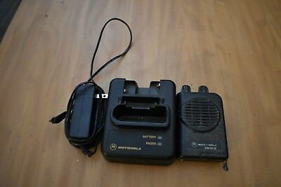 Nice Used Motorola Minitor Model IV 4 Pager W/ Charger & Battery - FD EMS HAM US