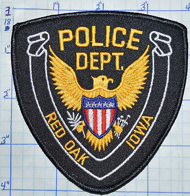 Iowa, Red Oak Police Dept Patch