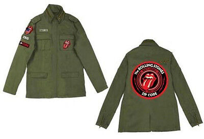 The Rolling Stones Zip Code Circle Logo Tour 2015 Armee Militär Jacke/jacket!