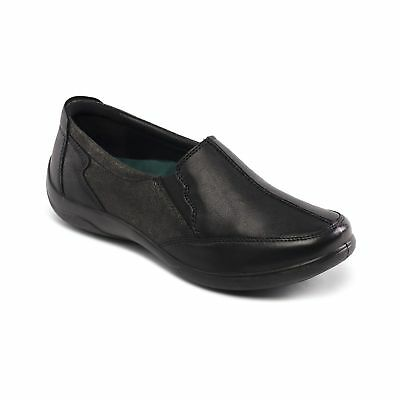 d0b95124e81 Padders FLUTE Ladies Womens Leather Extra Wide 2E 3E Slip On Loafers Shoes  Black