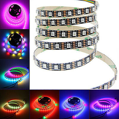 5V WS2813 5050 RGB Digital 5M 150 300 144 LED Strip Dual Data Line Addressable