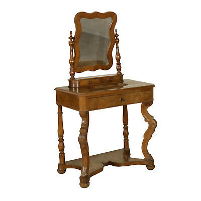 Louis Philippe Dressing Table Walnut Manufactured in Italy Mid 19th Century