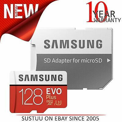 Samsung 128GB EVO Plus MicroSD SDXC UHS-I Class 10 Memory Card + Adapter│100MB/s