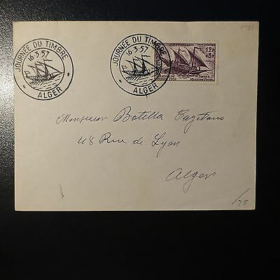 ALGERIA N°342 ON LETTER COVER 1st DAY FDC