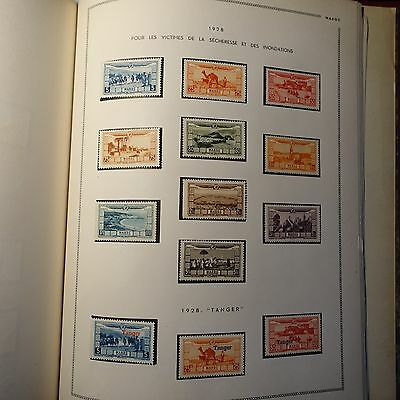 Collection Stamp Morocco 1893/1952 Tunisia 1888/1958 In One Album Moc 87 Photo