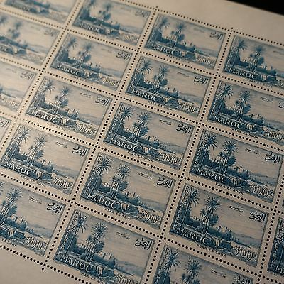 Morocco Morocco Pa N°102 Sheet Sheet 25 Neuf Luxe Mnh Value