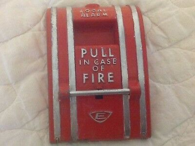 Vintage Edwards 270-SPO Fire Alarm Pull Station - Cast Iron