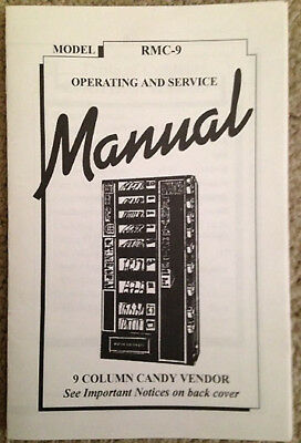 New Antares - Snack Combo Vending Machine -Original 9 Col Service Manual Rmc-9