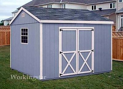 10u0027 x 16u0027 Gable Style Storage Shed Plans / Building Blueprints u0026 Guides # & 10u0027 X 16u0027 Gable Style Storage Shed Plans / Building Blueprints ...
