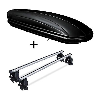 Dachbox VDPMAA320 320L+Dachträger Menabo Tema BMW 5er Touring o. Reling 04-09